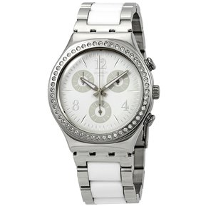 f71ba896908d Reloj Swatch YCS119G Para Dama Plateado Blanco