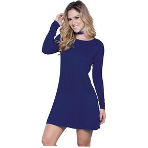 d32afbf0b Vestido Juvenil Femenino Marketing Personal 54644 Azul