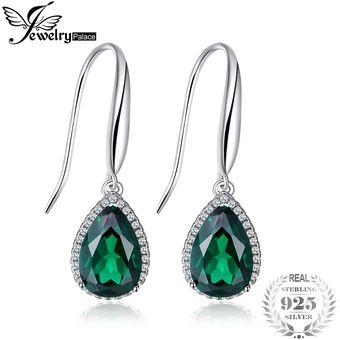 e7fc5240ed62 Compra Pendientes Jewelrypalace Creado Verde Nano Ruso Esmeralda ...