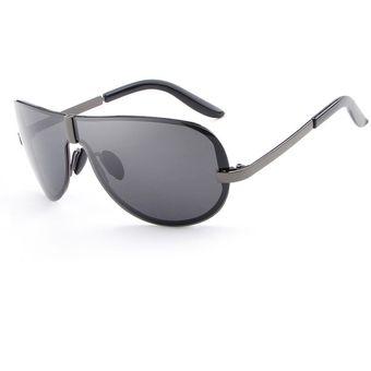 Compra Gafas Lentes Sol Polarizados HDCRAFTER 8490 Negro Gris online ... 20873cb600f7