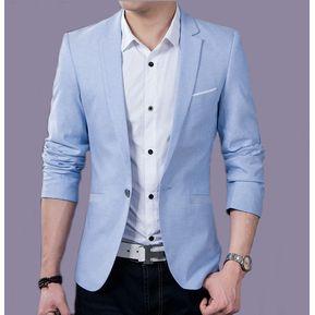 ae90a43351bd1 Juego del Ocio Hombres Juventud Tendencia Casual de negocios -Azul