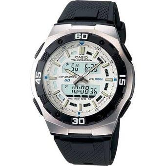 d5faf0dd395a Compra Reloj Casio AQ164 Caucho Blanco 60 Laps online