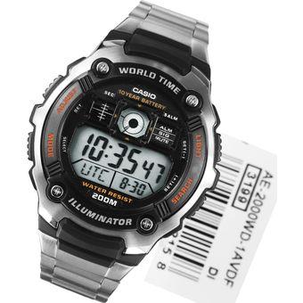 Para Led Hombre Reloj 2000wd Digital Ae 1av Con Luz Casio 1TlJc3uFK