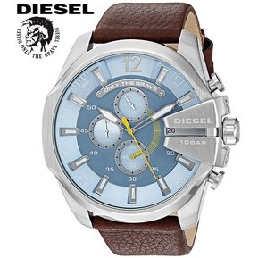 11b00c489ed5 Reloj Diesel Mega Chief DZ4281 Cronometro Acero Inoxidable Correa De Cuero  – Marrón