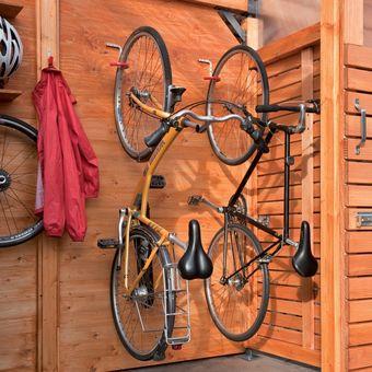 807452235 Gancho de Bicicleta engomado para paredes y Techos Alfer Gris de Aluminio  02909