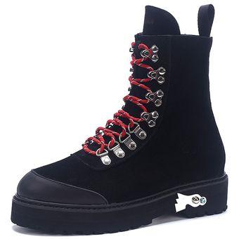 80b730ba2 Compra Botas Mujer De Ecocuero Con Cordones - Negro online