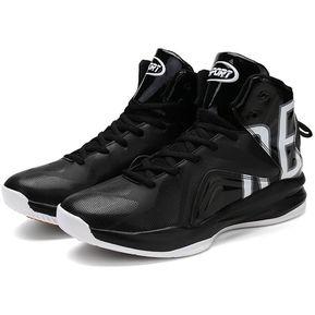 check out fc109 fb65a EH Zapatos De Baloncesto Amortiguar Los Choques - Blanco Y Negro