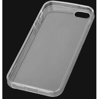 f70d34d981c 0.1mm Funda Protectora De TPU Para IPHONE SE / 5 / 5S - Blanco Transparente