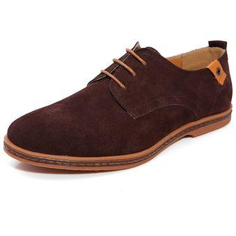 faafdb87afc54 Super Gran Tamaño Nuevos Zapatos Cuero Casual Zapatos Hombres Zapatos  Casual En Zapatos Casual Hombre Hombres