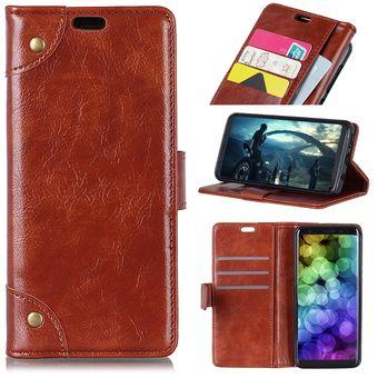57f7a27278b cobre hebilla Nappa textura horizontal Flip funda de cuero para HTC U12 la  vida, con