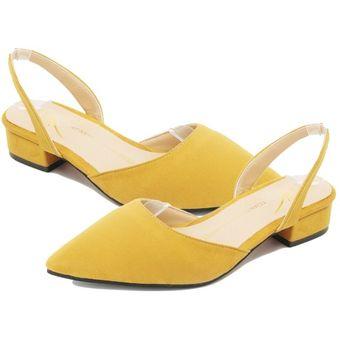 Dama Amarillo Zapatos De Mujer Mujeres Casual Punta Talón Puntera Tiras Plana Dreamgirl Sandalias vmN8wn0
