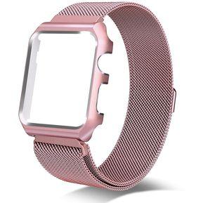 da0f92d6474 Para Apple Ver Series 3 Y 2 Y 1 38mm Milanese Bucle Simple Moda Metal Watch