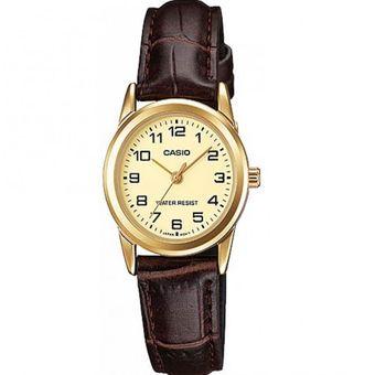 4c7c8f78b78d Compra Reloj Casio Mujer LTP-V001GL-9BU Análogo Pulso Cuero online ...