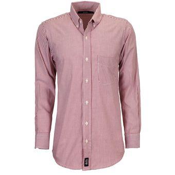c5fac43b68e Camisa Manga Larga Milan Hombre Uniforme Empresarial Ejecutivo Oficina  Color-Tinto