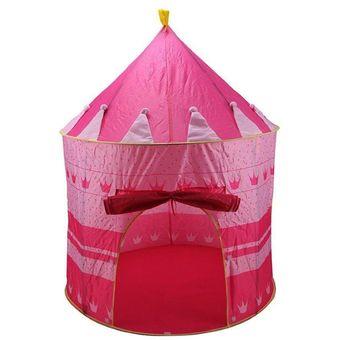 Casita De Juegos Carpa Pelotero Castillo Plegable Rosa dia del niño