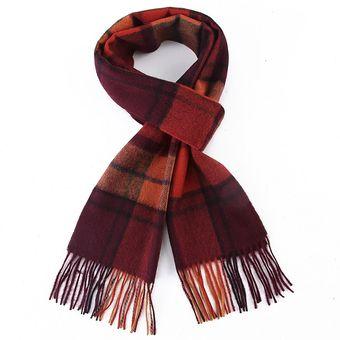 Bufanda 100//% lana de cordero a cuadros