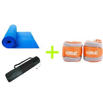 Compra Pack - Mat De Yoga 6mm + Muñequera Tobillera 0.5kg Live Up ... 99c909299ec9