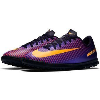 Compra Tenis Fútbol Niño Nike Jr Mercurial Vortex III TF -Morado ... 9854e872ce8c9
