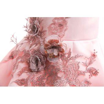 336a3d10c6fec Compra Falda Plisada Vestido De La Navidad De Las Muchachas - Rosa ...