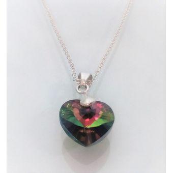 97a3aa76259e Compra Collar Mujer Corazón Tornasol Swarovski En Plata 950 ...