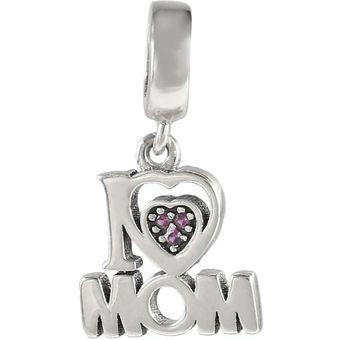 Compra i love mom letter necklace pendant bead diy for bracelets i love mom letter necklace pendant bead diy for bracelets mother gift no chain silver aloadofball Choice Image