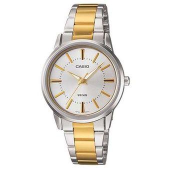 aa69bd05b69d Compra Reloj Casio LTP1303SG-7A-Plateado - Dorado para Mujer online ...