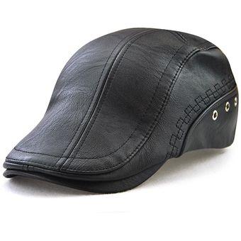 Compra Sombrero De Boina Cuero Artificial Gorras De Golf online ... 92f81c513cf4
