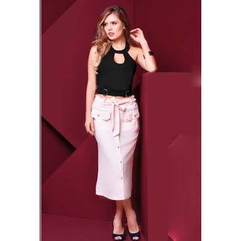 414d8decdf Compra Falda Larga Lino Outfit 658 Para Mujer Palo De Rosa online ...