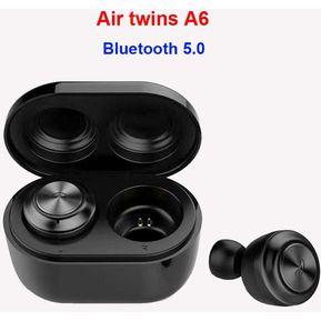 6b5e62f1567 Auriculares Earphone TWS A6 Bluetooth 5.0 Inalámbrico-Negro