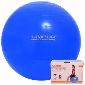 Live Up - Pelota Pilates Yoga Gym Ball De 65 Cm Con Inflador - Azul 82f3a151ff4b