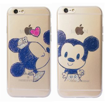 450550f213a Agotado Pack de 2 Funda de TPU Silicona la Disney Couples Minnie el beso de  Mickey Mouse