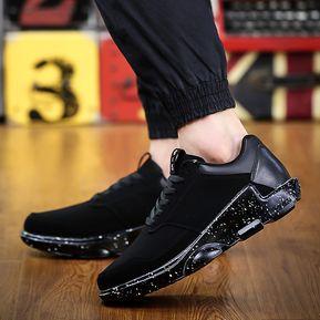 42bdb6b5dc29e Zapatos Deportivos Para Unisexo Suelas Gruesas Aumentar La Altura Casual  Tenis -Negro