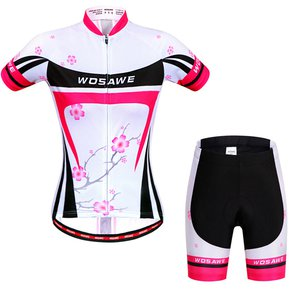 1853bc89c2ef8 Uniforme Ciclismo Jersey + 3D Gel Padded Short Bici Ruta Bicicleta Mujer  Reflectante Noche