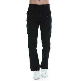 Compra Pantalones Casual Flat-Front Para Hombre - Negro online ... 9bb497797d5