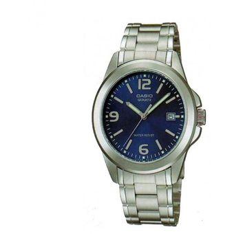 1bab3a92cf10 Compra Reloj Casio Analógico LTP-1215A-2A Plateado Fondo Azul Para ...