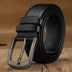 Hombres Ocio Moda Cinturón De Ecocuero Fácil Colocación Cinturones  Encantador Pretina Masculino Ecocuero Correas-Nergo 469d7a9db060