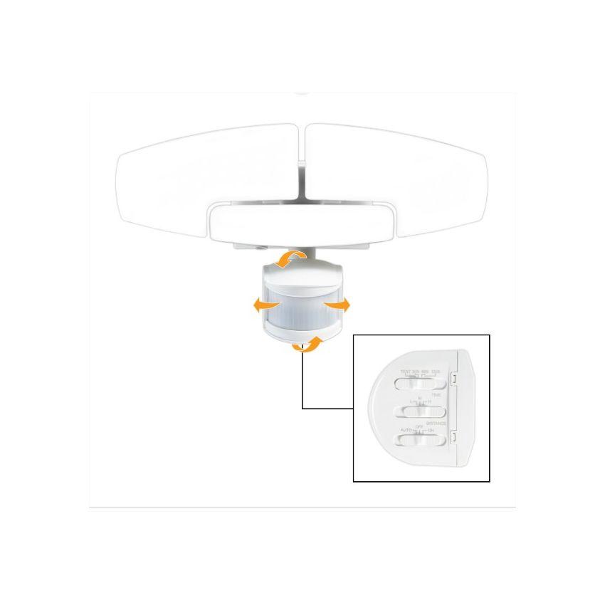 Mundo novedad-cabeza lámpara con un-de sensor de movimiento