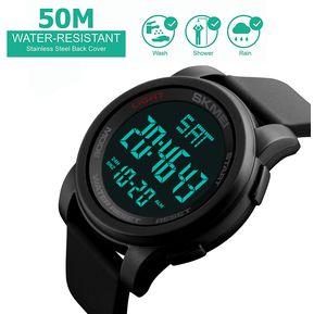 a5dc26dd12fa Reloj Negro Digital Hombre Joven Deportivo Dial Grande