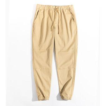 Pantalones De Algodon Casuales De Color Caqui Para Hombre Maden Talla 28 A 36 Version Mejorada De Pantalones Recortados Con Pies Elasticos Pantalones Para Hombre Khaki Linio Colombia Ge063fa1la0dblco