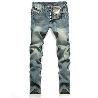 ff2b72d94 Compra Pantalones Vaqueros Hombre Pantalones Rectos De Corte Recto ...