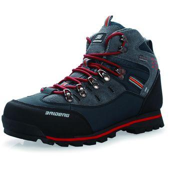 b3faf3693a4 Zapatos De Montaña De Impermeables Y Antideslizantes Para Hombre - Azul  Oscuro Y Naranja