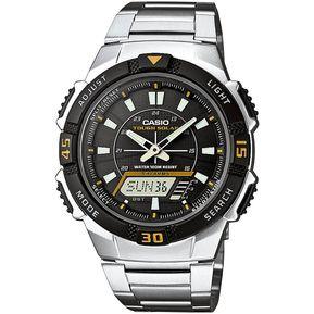 6ac2de4db526 Reloj Casio AQ-S800WD-1E Para Caballero En Acero Inoxidable Fondo Negro