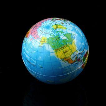0310a41fb EH Mapa Mundial Espuma Tierra Globo Estrés Del Socorro De Bola Animosa  Atlas Geografía Toy TH092
