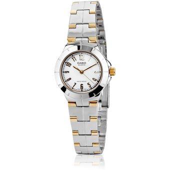 f474e910754a Compra Reloj Casio LTP-1242SG Plateado Con Dorado Para Mujer online ...