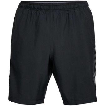 Pantalón Corto Hombre Under Armour Woven Graphic Short-Negro ideal para exterior