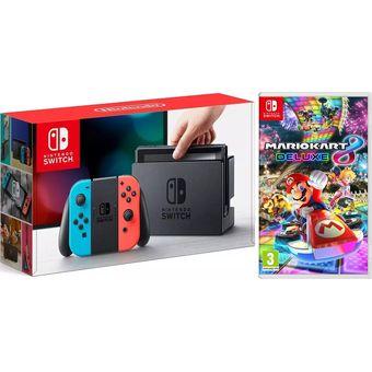 Nintendo Switch Neon Con Juego Mario Kart 8
