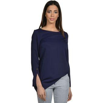 5a600145c8ab Blusa manga larga túnica de mujer Exotik EF173-1102-605 Azul Marino