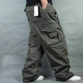 Pantalones Anchos De Hip Hop Para Hombre Pantalones Casuales De Algodon Estilo Haren Cargo Pantalones Sueltos Holgado Ropa De Calle Pantalones De Talla Grande Para Hombre Ropa Para Correr Xyx Army Green