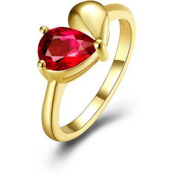 a37c4f8f550a Compra De Moda Mujer Doble Rojo   Oro Chapado Anillo online