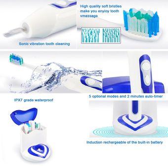 FL-A12 Sónico Recargable Cepillo Dental Eléctrico Con Higienizador Por  Rayos UV (Blanco + ec87d3f55a92